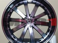 "NEW IN BOX R7 22"" INCH BLACK MACHINED DODGE CHARGER"