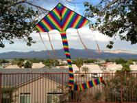 "New Rainbow Single Line Delta Kite 6'7"" x 3'3"" main"