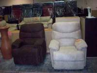 NEW CREAM AND MOCHA RECLINERS! $175 EACH! !!6770 4TH ST