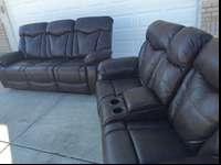 Brand new reclining sofa and love seat! This set has a