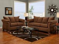 NEW !!! RED or CHOCOLATE SOFA & LOVE SEAT !!! NO CREDIT