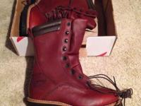 This is a brand new pair of Red Wing lineman boots with