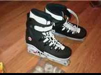 Size 8 with extra wheels. New condition contact
