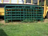 10 - 12ft corral panels & 1 - walk thru gate $ 660.00