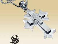 PLEASE CALL  Simmons Jewelry Co. Gothic Cross Pendant /