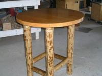 Hand crafted: New Never used Table , Red Fer Top /w