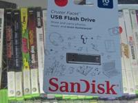 WE HAVE FOR SALE A NEW SANDISK USB FLASH DRIVE  IT IS