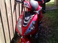 Brand new 50cc Peace Sport scooter for sale. 29 miles