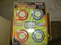 SCOOTER REPLACEMENT WHEELS (4) & BEARINGS (8). Just