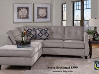 Brand new Serta sofa and love seat $499. Layaway and