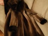 New Sheared Mink Coat Brown in color just beautiful