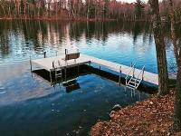 For sale! NEW Shoreline 30' L-8 roll-in dock with cedar