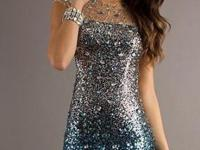 NEW Short Beaded Dress with Open Back NEW NEW NEW WITH