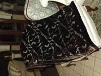 NEW Silk Brown and Black Shawl that looks and feels so