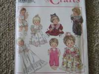 SIMPLICITY 8099 Baby Doll Wardrobe Pattern S-M-L