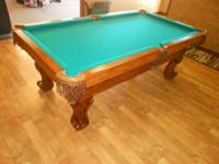 NEW SLATE POOL TABLE  MADE IN THE USA  THE FORTESS BY