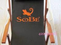 This SoBe Wood Sling Chair is Brand New, Never been