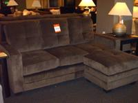 Very nice Sofa Chaise in microfiber, refined track arm