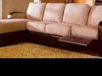 $658 FOR THIS SECTIONAL WITH BUILT IN RECLINER KNOW