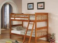 Brand new solid wood bunk beds for only $245. You find
