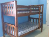 Brand new mission style bunk beds with beautiful cherry