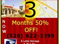 We just received some new specials for Self Storage at