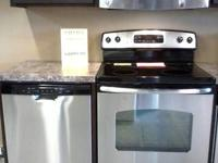GE stainless steel range, dishwasher and microwave