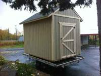 Newly constructed storage shed. 8'x12 x12' high.