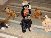 Up for grabs is a lot of 7 stuffed animals in perfect,