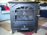 Electric stove heater heats up to 400 sq. ft. Or use it