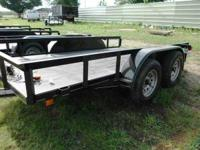 New 16' Tandem Axle Utility Trailer. Black, 3,500lb