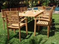 This post includes our all new 13pc MONTEGO TEAK DINING
