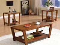 Brand new contemporary coffee table set. For only $275