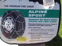BRAND NEW CHAINS. ALPINE SPORT.STILL IN PLASTIC IN