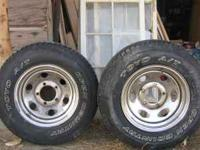 2 new p215 75r 15 TIRES and rims no e mails call  or