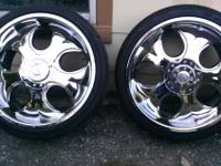 "4 New tires size 245/35R20 with 4 20"" rims for sale."