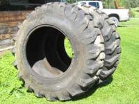 2- new tractor tires, never been mounted size- 18.4X28