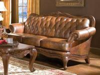Real tri-tone leather sofa-features over 1000