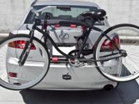 This brand new 2 bicycle rack carrier is designed to be
