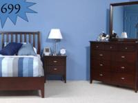 New and in stock now! Get a 6pc compete twin bedroom