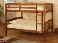 BRAND NEW TWIN BUNK BEDS! AVAILABLE IN OAK OR CHERRY