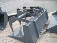 66 Inch Grapple Bucket, -- Twin Cylinder -- Cut out