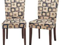 The Ella fabric dining chair offers comfort and brings