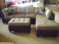 "Gorgeous ""Microfiber"" Sectional. Color is Bella"
