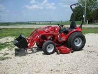 This is a NEW TYM T233 compact utility tractor with a