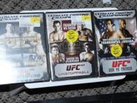 3 new still in plastic 1 used UFC dvds. UFC 52 Couture