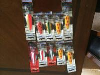 This is a nice lot of NEW and used Fishing lures,