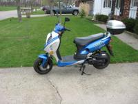 New VIP Moped bought last summer never rode. less then