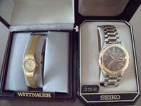 Brand New Watches, mens Seiko, paid over $200. Womens
