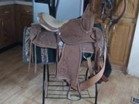 This saddle has never been on a horse. I bought it for